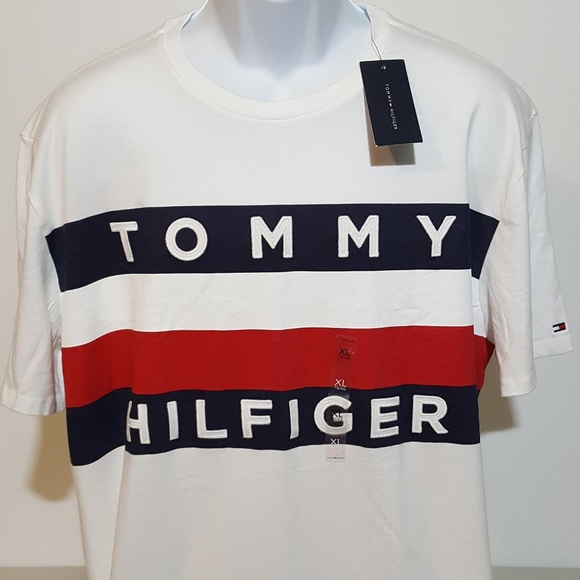 Tommy Hilfiger Other - Tommy Hilfiger Flag Logo White T Shirt XL NWT